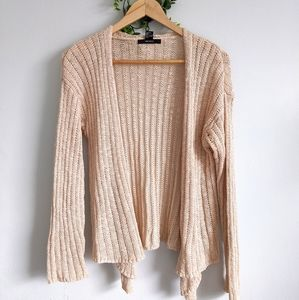 Forever21 Women's Knit Open Cardigan Beige